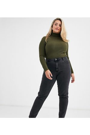 Vero Moda Mom jeans with high waist in washed black
