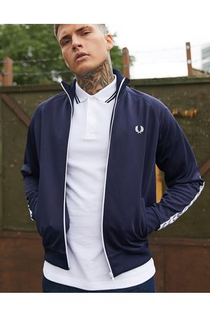 Fred Perry Homem Casacos - Side taped track jacket in navy