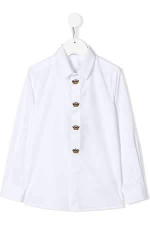 Dolce & Gabbana Crown-embroidered long-sleeve shirt