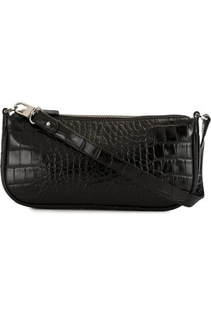 By Far Rachel croc-effect shoulder bag