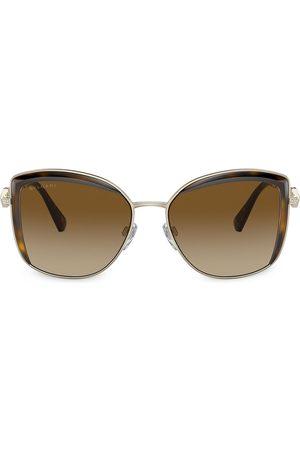 Bvlgari Senhora Óculos de Sol - Serpenti square metal sunglasses