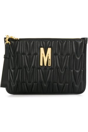 Moschino Quilted monogram clutch