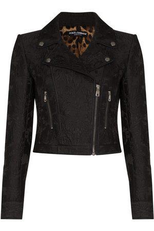 Dolce & Gabbana Senhora Casacos - Jacquard printed biker jacket