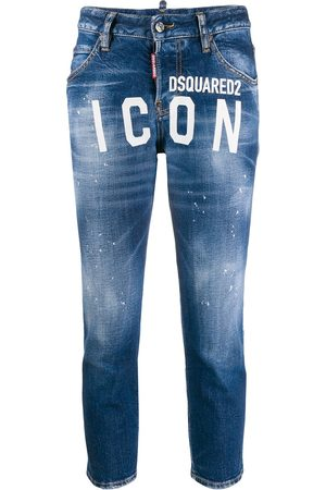 Dsquared2 ICON logo cropped jeans