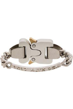 1017 ALYX 9SM Homem Pulseiras - Tone logo-engraved bracelet
