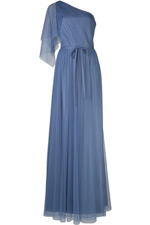 Marchesa Notte One shoulder bridesmaid gown