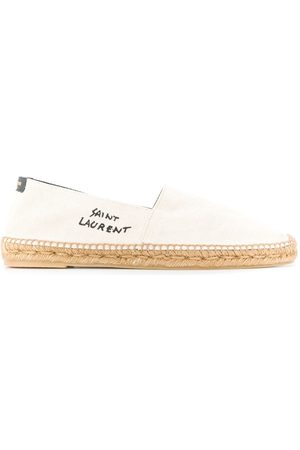 Saint Laurent Embroidered logo espadrilles