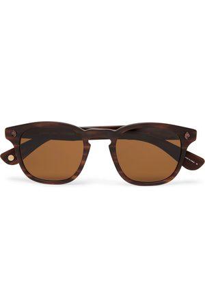 Garrett Leight California Optical Homem Óculos de Sol - Ace 47 Square-frame Tortoiseshell Acetate Sunglasses