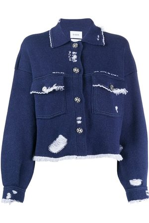 Barrie Distressed button-up cardigan