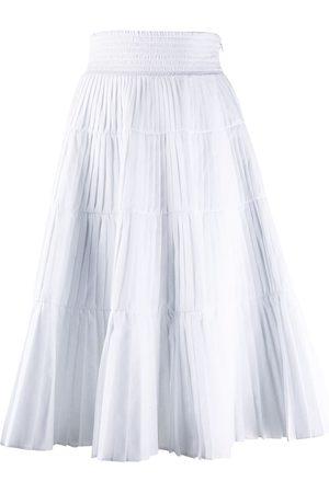 Prada Pleated tiered skirt