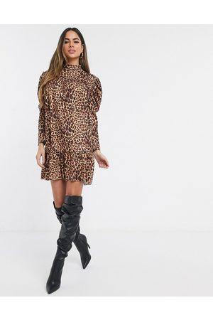 Missguided Smock dress in leopard-Multi
