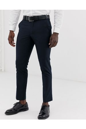 French Connection Slim fit plain suit trousers-Navy