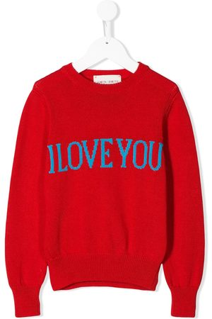 Alberta Ferretti Slogan embroidered jumper