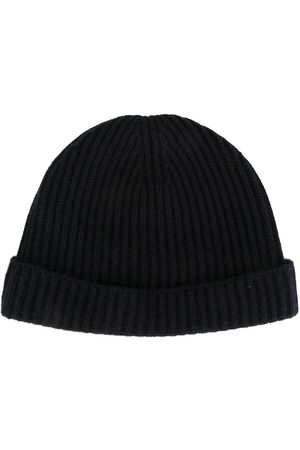 N.Peal Ribbed-knit cashmere beanie