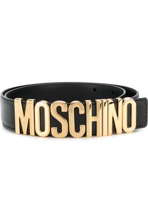 Moschino Logo plaque belt