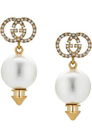 Gucci Senhora Brincos - GG faux pearl earrings
