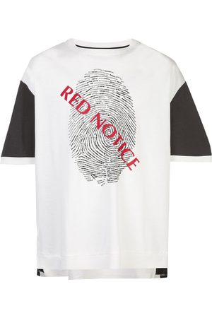 MOSTLY HEARD RARELY SEEN Short sleeve Red Notice print T-shirt