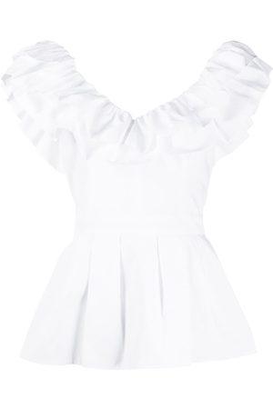 Alexander McQueen Ruffle peplum blouse