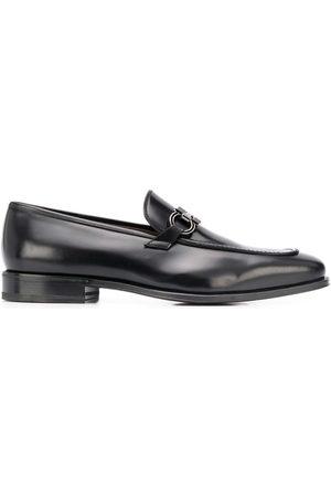 Salvatore Ferragamo Homem Oxford & Moccassins - Gancini leather loafers