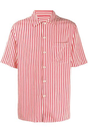 Ami Striped camp collar short-sleeve shirt
