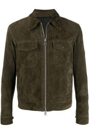 Ami Paris Homem Casacos de Pele - Patch pocket suede jacket