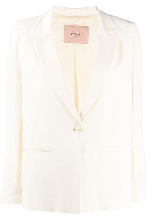Twin-Set V-neck cropped sleeve blazer