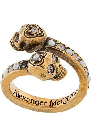 Alexander McQueen Wrap-around skull ring