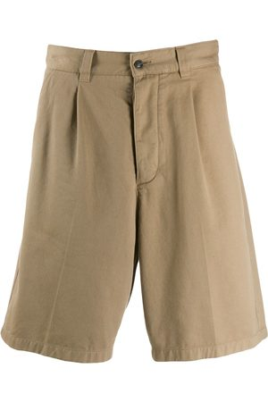 Ami Paris Men Pleated Bermuda Shorts
