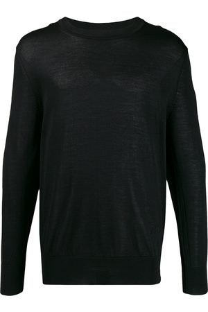 Ami Paris Ribbed crew neck knitted sweater