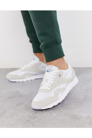 Reebok Classic nylon trainers in white