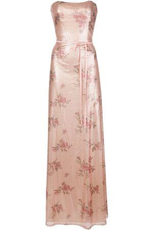 Marchesa Notte Bridesmaids Senhora Vestidos de Festa - Bridesmaid floral-printed sequin gown