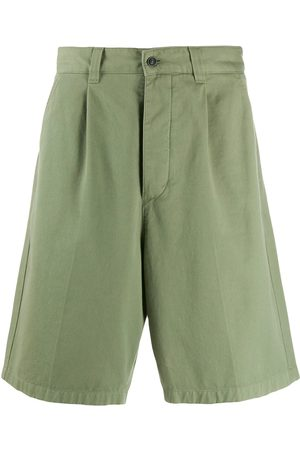 Ami Men Pleated Bermuda Shorts
