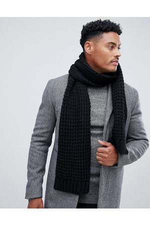 ASOS Knitted scarf in black