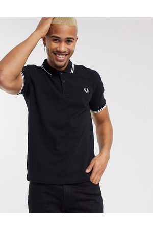 Fred Perry Twin tipped logo polo in black
