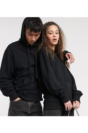 Collusion Unisex hoodie in black