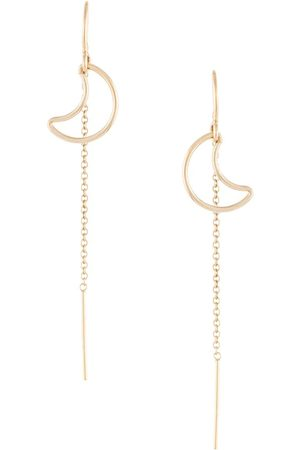 Petite Grand Moon thread through earrings