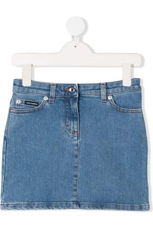 Dolce & Gabbana Kids Celeste denim mini skirt