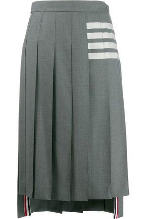 Thom Browne 4-Bar Engineered Below-Knee Pleated Skirt