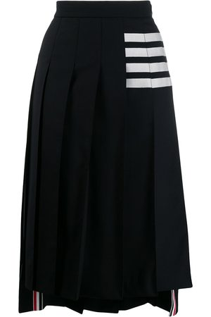 Thom Browne 4-bar pleated midi skirt