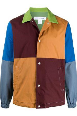 Comme Des Garçons Shirt Color blocked press stud shirt jacket