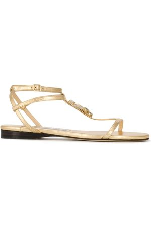 Jimmy choo Logo flat sandals