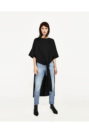 Senhora T-shirts & Manga Curta - Zara LONG KNOTTED T-SHIRT