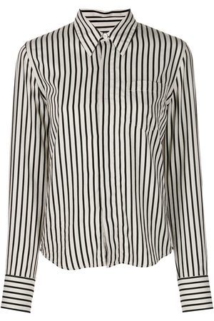 Ami Senhora Camisas - Striped button-front shirt