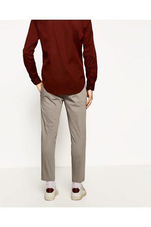 Homem Calças Chino - Zara CALÇAS CHINO CROPPED - Disponível em mais cores