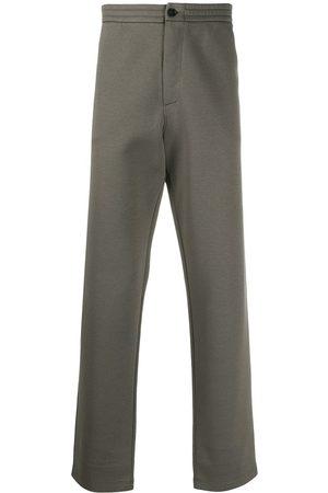 Armani Homem Calças - High-waisted straight leg trousers
