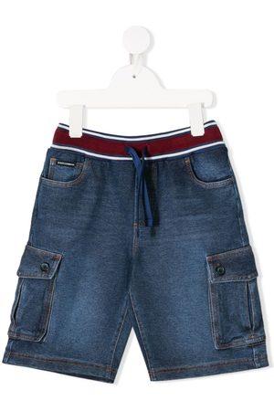 Dolce & Gabbana Kids Flap-pocket drawstring shorts