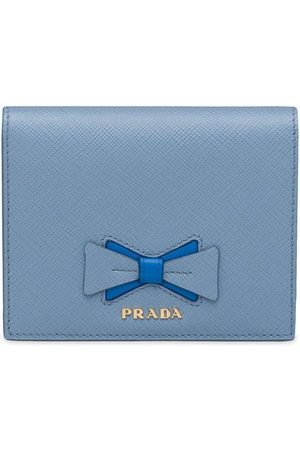 Prada Small Saffiano leather wallet with bow
