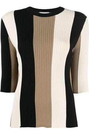 Ami Paris Striped knitted jumper