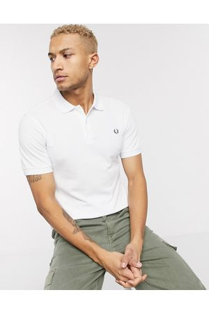 Fred Perry Plain polo shirt in white