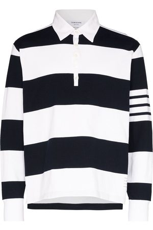 Thom Browne 4-stripe sleeve polo shirt